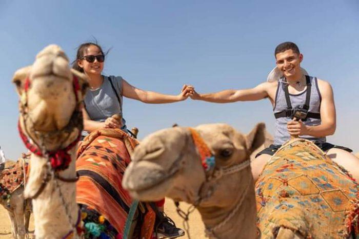 Camel ride Safari into the Desert